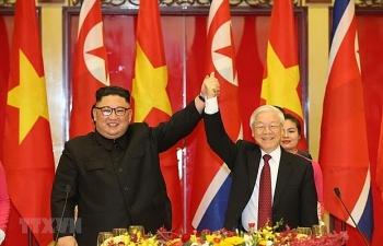 ທ່ານເລຂາທິການໃຫຍ່ຫງວຽນຟູຈ້ອງ ໄດ້ສົ່ງສານຊົມເຊີຍທ່ານເລຂາທິການໃຫຍ່ເກົາຫຼີເຫນືອ Kim Jong-un