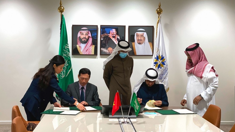 ພ ທ ລ ງນາມໃນໂຄງການຮ ວມມ ລະຫວ າງສະຖາບ ນການທ ດຫວຽດນາມ ແລະ saudi arabia