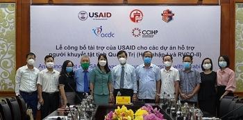 ກວາງຈິ: ປະກາດບັນດາໂຄງການໜູນຊ່ວຍຄົນພິການ ໂດຍ USAID ໜູນຊ່ວຍ