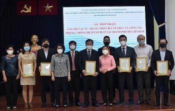 Project Vietnam Foundation ມອບວັດຖຸອຸປະກອນການແພດເພື່ອຕ້ານໂລກລະບາດໂຄວິດ - 19 ໃຫ້ແກ່ນະຄອນໂຮ່ຈີມິນ